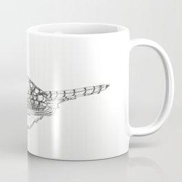 Black and White Blue Jay (02) Coffee Mug
