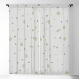 Gentle Green Dots Blackout Curtain