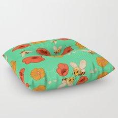 Poppies & Bees Floor Pillow
