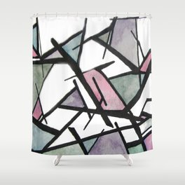 Abstract Triangles  Shower Curtain