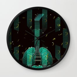 breathing music tonight Wall Clock