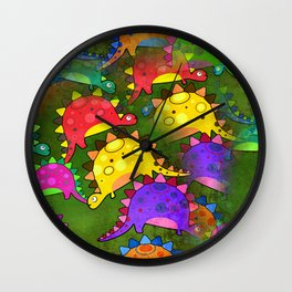 Dinosaur Print Wall Clock