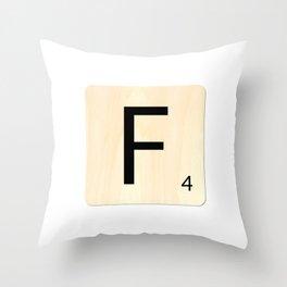 Scrabble F Throw Pillow