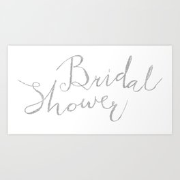 bridal shower Art Print