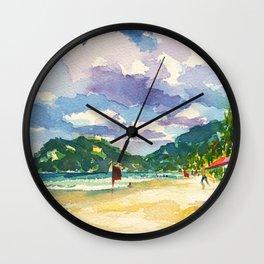 Maracas Chillax Wall Clock