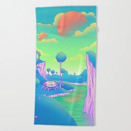Planet Namek Beach Towel
