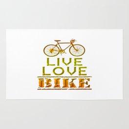 LIVE - LOVE - BIKE Rug