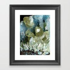 chrysocolla & calcite Framed Art Print