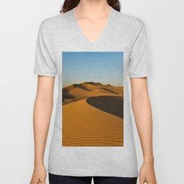 Sand Dunes Sahara Desert Landscape 27 Unisex V-Neck