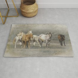 A Band of Horses Rug