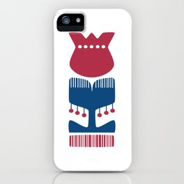 Nordic Red Flower iPhone Case