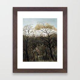 Henri Rousseau Rendezvous in the Forest Framed Art Print