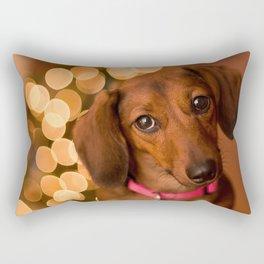 Dachshund Christmas Rectangular Pillow