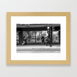 Sidewalk Electric Framed Art Print
