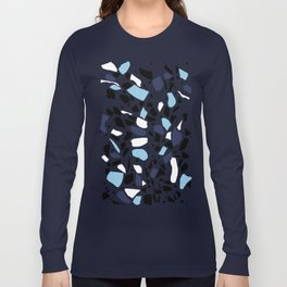 Terrazzo Spot Blues on Blush Long Sleeve T-shirt