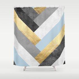 Golden bands VII Shower Curtain