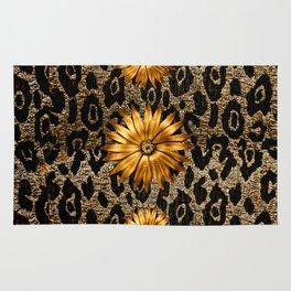 Animal Print Cheetah Triple Gold Rug