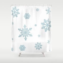 Glitter Snowflakes Shower Curtain