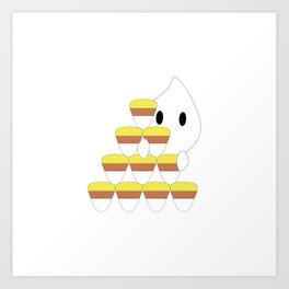 Peekaboo Ghost Art Print
