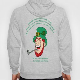 A Randy And Green Leprechaun St Patrick's Day Limerick Hoody