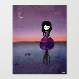 Jellyfish girl Canvas Print