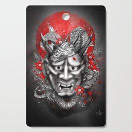 Hannya dragon mask Cutting Board