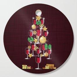 Happy Red Wine Tree Cutting Board