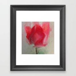 Lipsick Tulip Framed Art Print