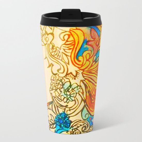 Etched in Lace Metal Travel Mug