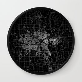 omaha map nebraska Wall Clock