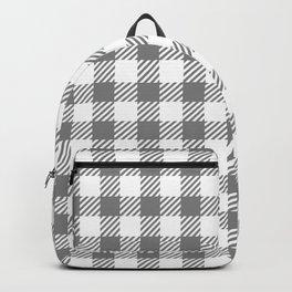 Grey Vichy Backpack