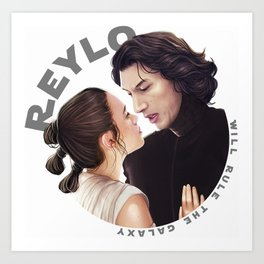 Contemplation Reylo Art Print