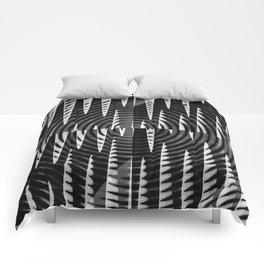 Black & White Waves Comforters