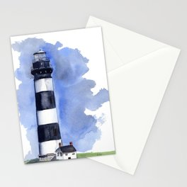 Bodie Island Lighthouse loose watercolor painting Stationery Cards