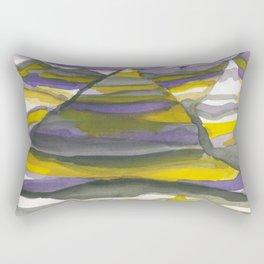 Painted Mountains Rectangular Pillow