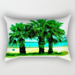 Tropical Tree Trio Rectangular Pillow
