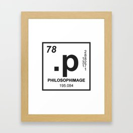 philosophimage logo t Framed Art Print
