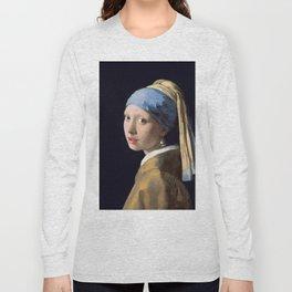 GIRL WITH A PEARL EARRING - JOHANNES VERMEER Long Sleeve T-shirt