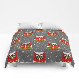 Christmas Snow Owl Pattern Comforters