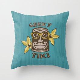 Geeky Tiki Throw Pillow