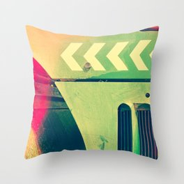 Road Roller Chevron 02 - Industrial Abstract (everyday 18.01.2017) Throw Pillow