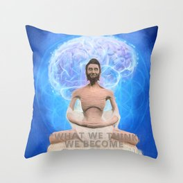 Buddha-what we think, we become Throw Pillow