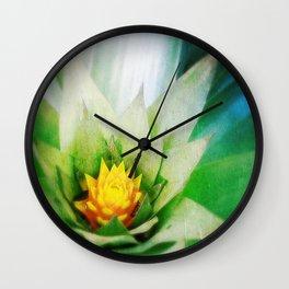 Bromeliad Bloom Wall Clock