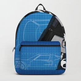 GT40 Le Mans 1966 Blueprint Backpack
