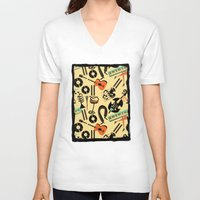 blankets V-neck T-shirts featuring Jazz Rhythm (positive) by Chicca Besso