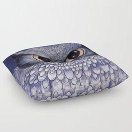 La Sagesse du Hibou (The Blue Owl) Floor Pillow