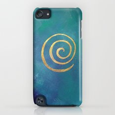 Philip Bowman Infinity Bright Blue And Gold Abstract Modern Art Painting iPod touch Slim Case