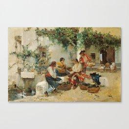 Joaquín Sorolla y Bastida,  Selling Melons Canvas Print