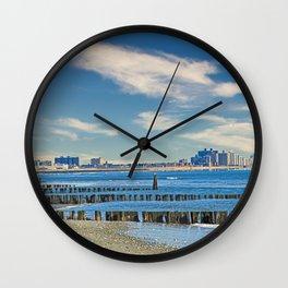 Rockaway Beach Queens New York Landscape Wall Clock