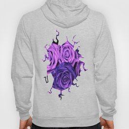 Purple Roses Hoody
